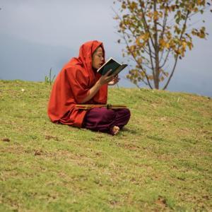 EDUCATION AT MONASTERY IN PUNAKHA BHUTAN - 6