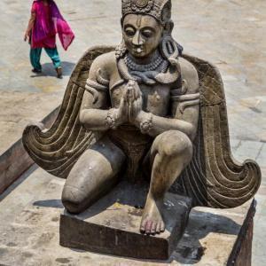 GARUDA`S STATUE AT DURBAR SQUARE KATHMANDU NEPAL - 6